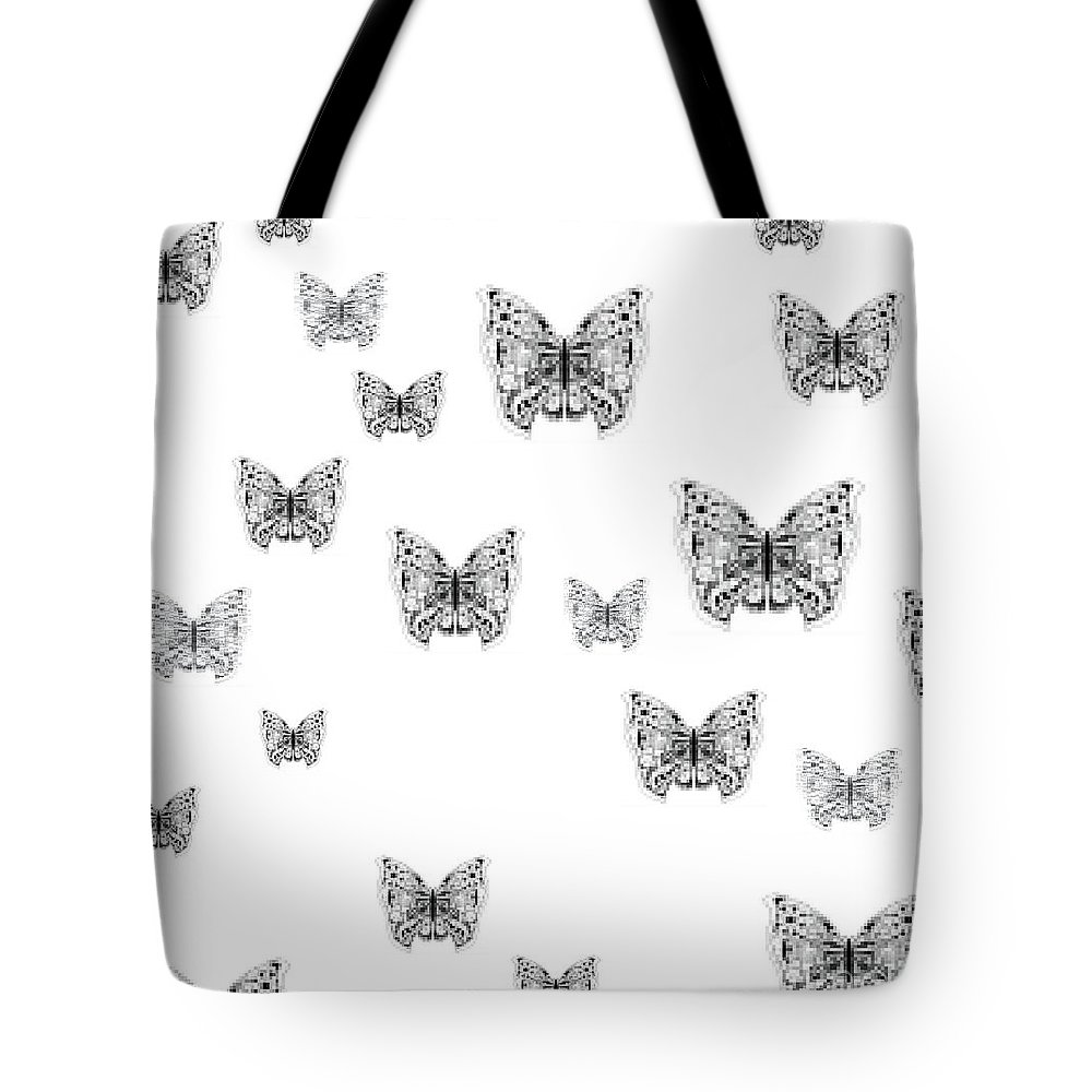 Pixels Tote Bag featuring the digital art They Might Be Butterflies by Helena Tiainen