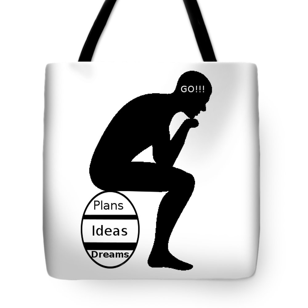 Thinking Tote Bag featuring the digital art Thinking Egg by Richard Troche