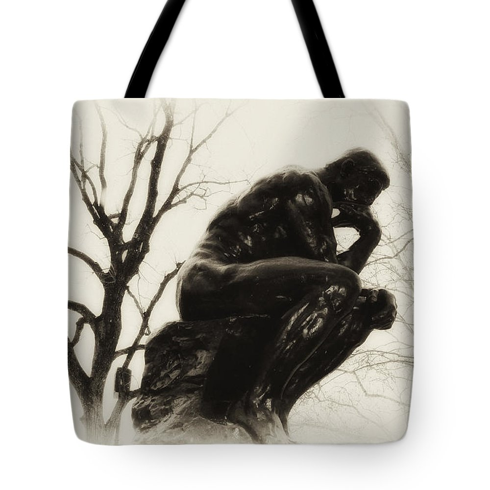 Thinker Tote Bag featuring the photograph Thinking Of You by Bill Cannon