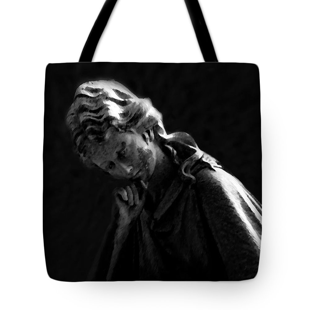 Intelligence Tote Bag featuring the painting Thinking Woman by David Lee Thompson