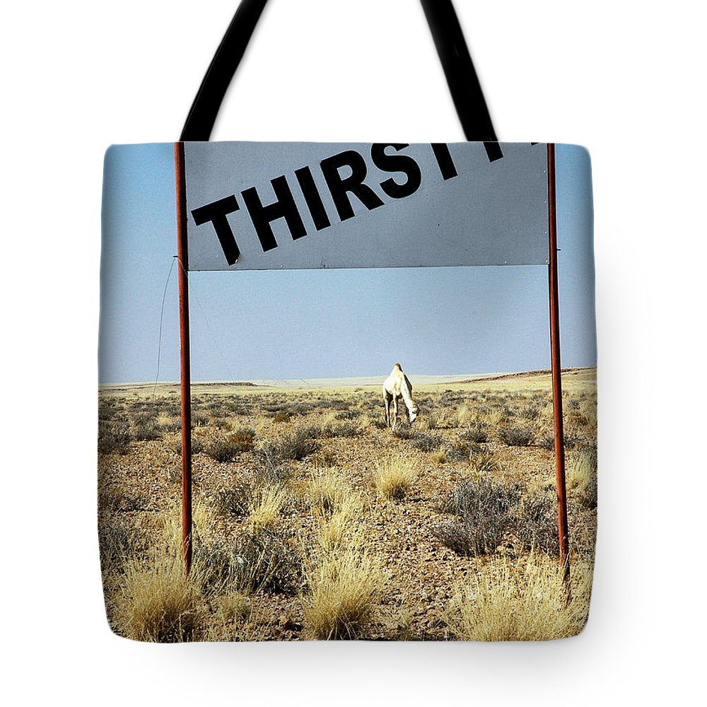 Camel Tote Bag featuring the photograph Thirsty? by Marc Levine