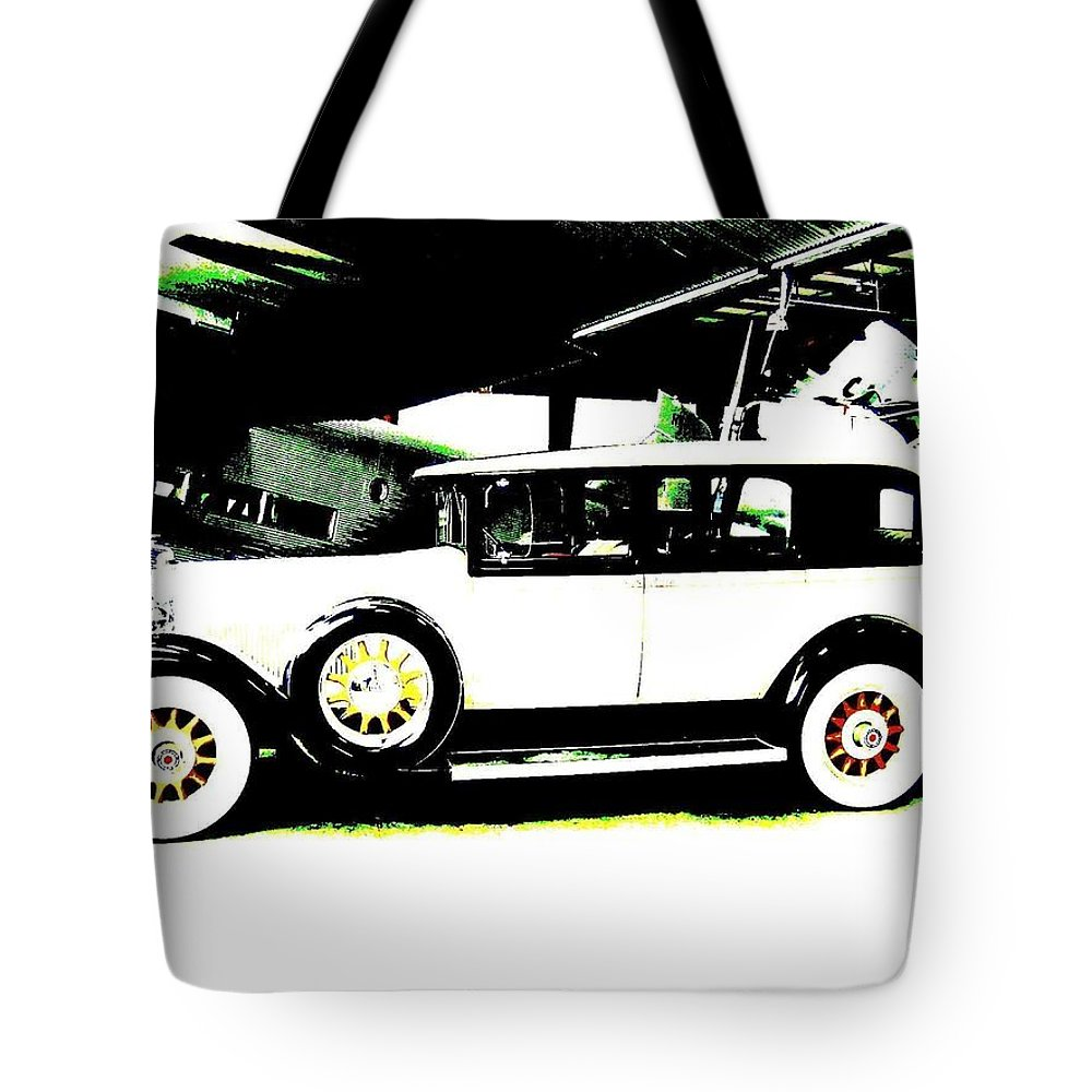 Packard Tote Bag featuring the digital art Thirties Packard Limo by Will Borden