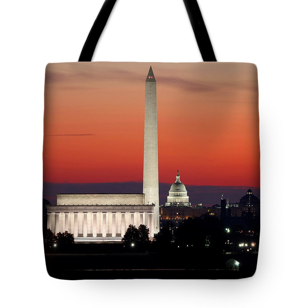 Washington D.c. Tote Bag featuring the photograph This City by Mitch Cat