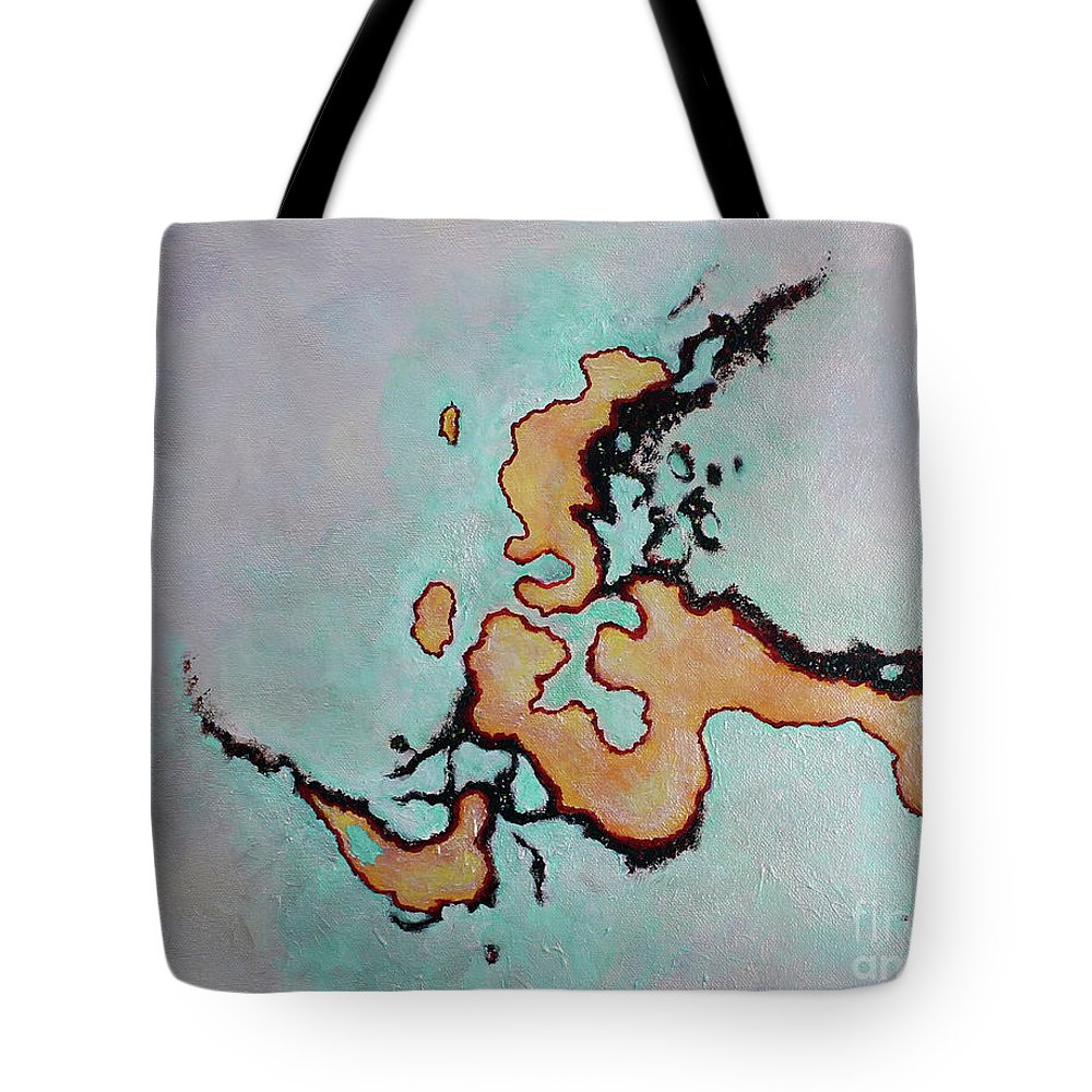 Abstract Painting Tote Bag featuring the painting This Is Not Indochina by Katherine Fishburn