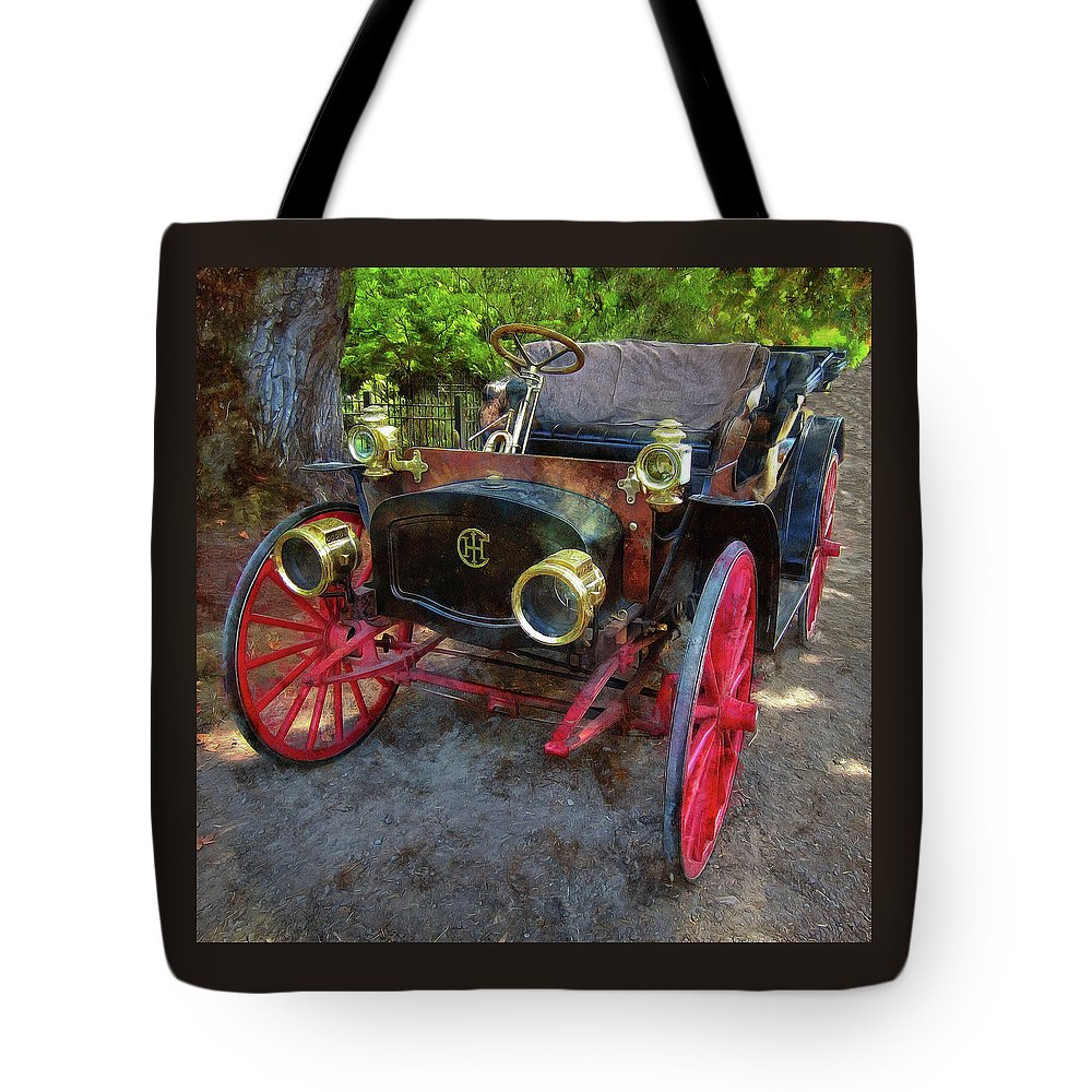 Automotive Art Tote Bag featuring the photograph This Old Car by Thom Zehrfeld