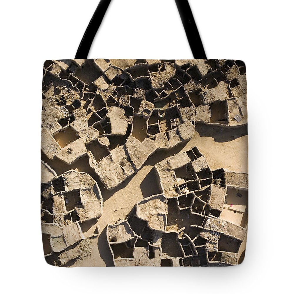 Landscape Tote Bag featuring the photograph This Old Salt Slab Town In Dirkou by Michael Fay