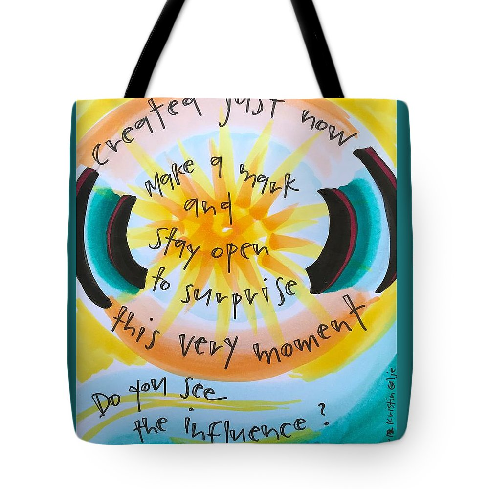 Creativity Tote Bag featuring the painting This Very Moment by Vonda Drees