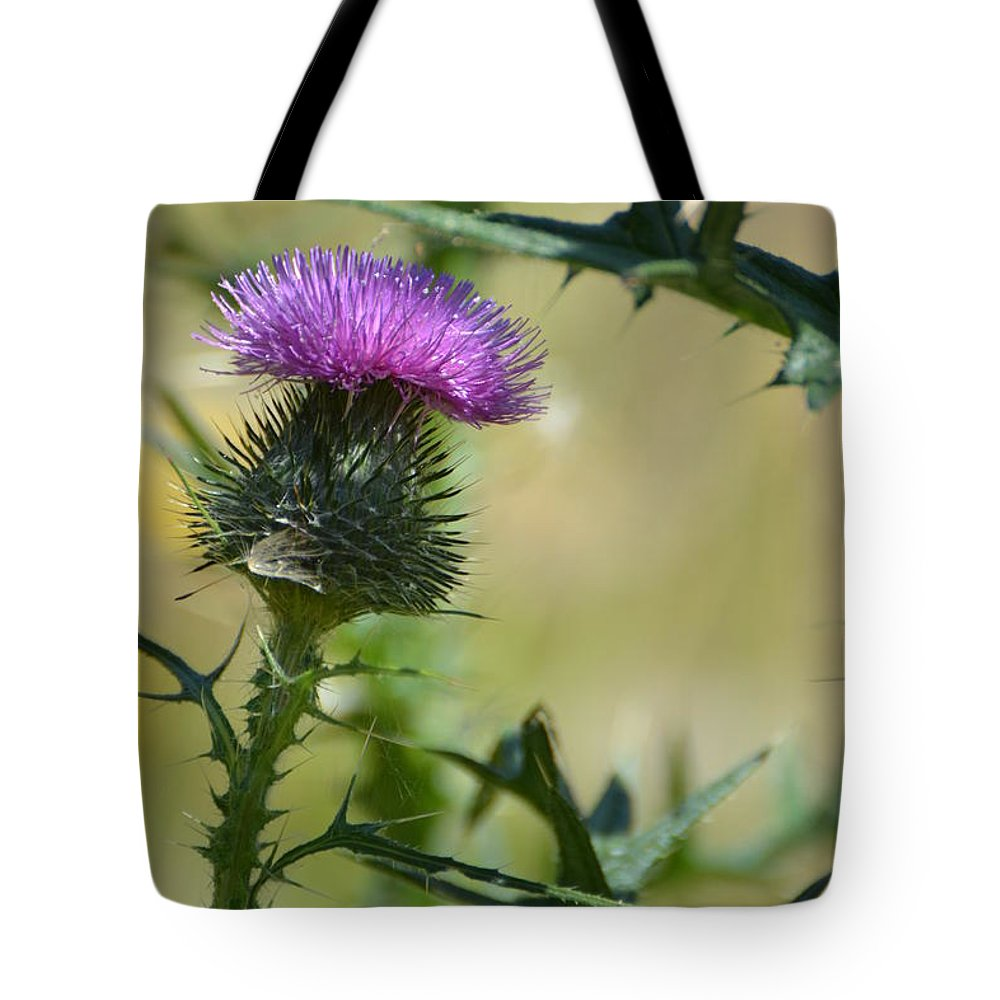 Thistle Tote Bag featuring the photograph Thistle Spikes by Robin White