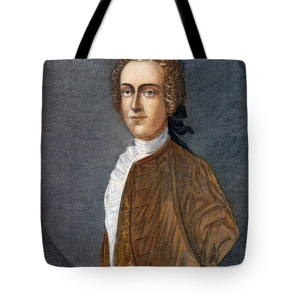 18th Century Tote Bag featuring the drawing Thomas Hutchinson by Granger