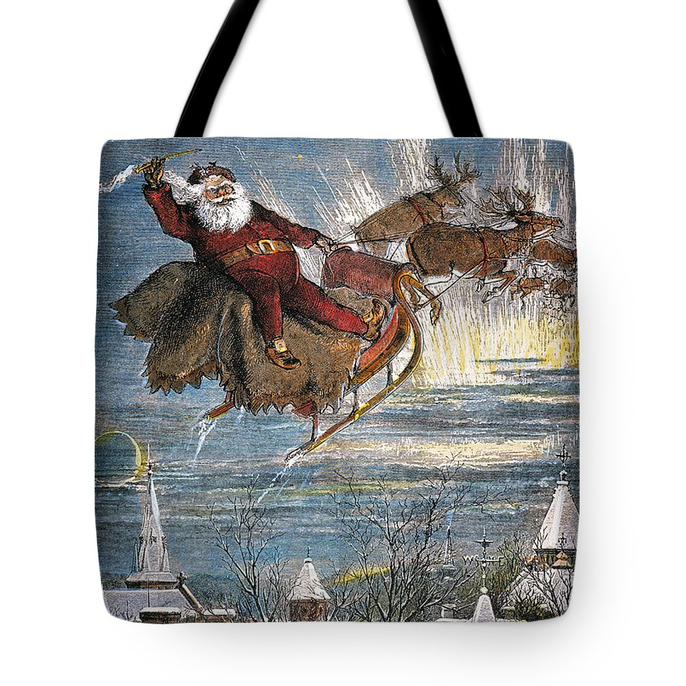 19th Century Tote Bag featuring the photograph Thomas Nast: Santa Claus by Granger