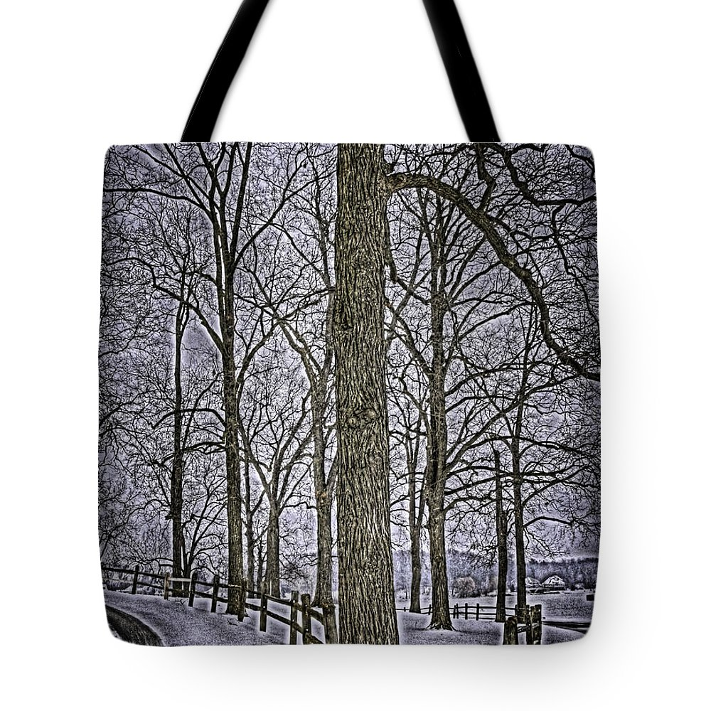 Country Tote Bag featuring the photograph Thompson Lake Hdr by September Stone