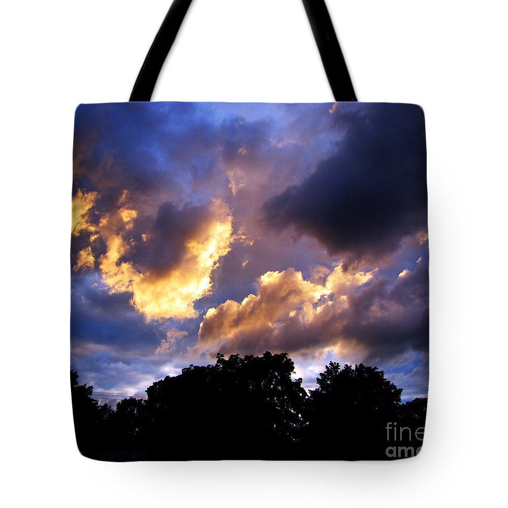 Sunset Tote Bag featuring the photograph Thomson Sky by September Stone