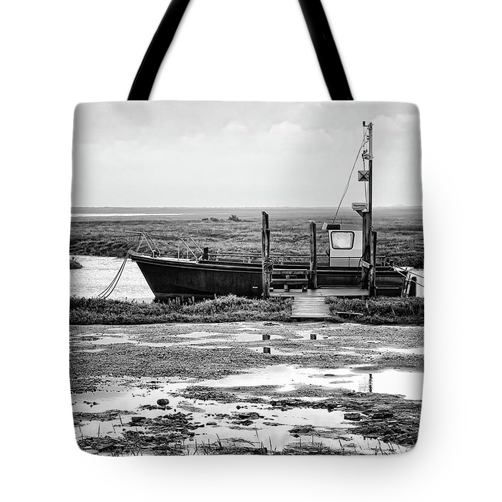 Amazing Tote Bag featuring the photograph Thornham Harbour, North Norfolk by John Edwards
