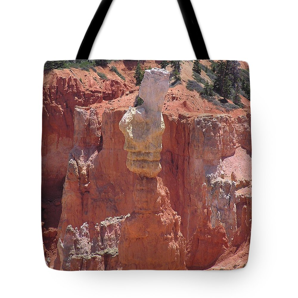 Bryce Tote Bag featuring the photograph Thor's Hammer by Louise Magno