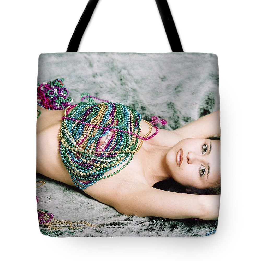 Female Artistic Nude Tote Bag featuring the photograph Those Eyes by Tom Hufford