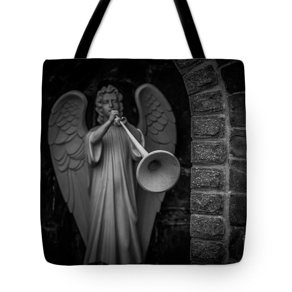 Blackandwhite Tote Bag featuring the photograph Those Who Have Ears To Hear by Lyudmila Prokopenko