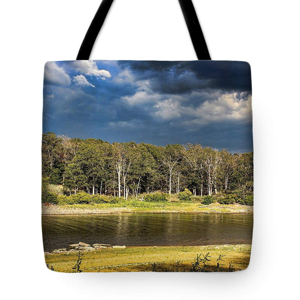 Sunset Tote Bag featuring the photograph Threatening Cloud by Carolyn Fletcher