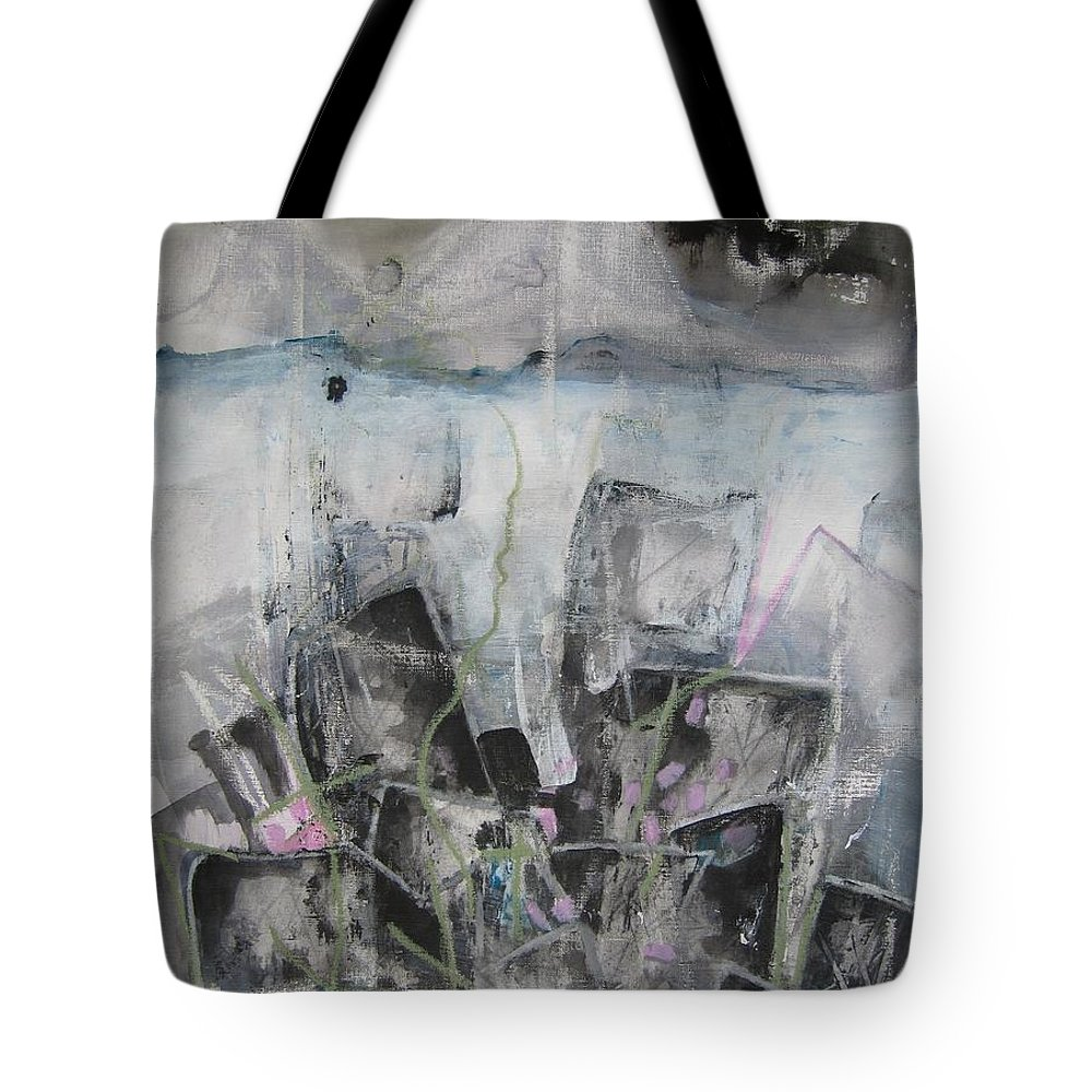 Cemetery Tote Bag featuring the painting Three Arms by Seon-Jeong Kim