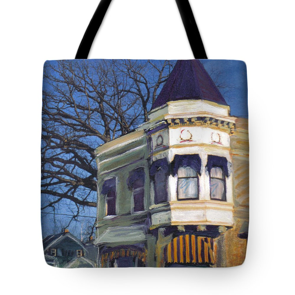 Miexed Media Tote Bag featuring the mixed media Three Brothers by Anita Burgermeister