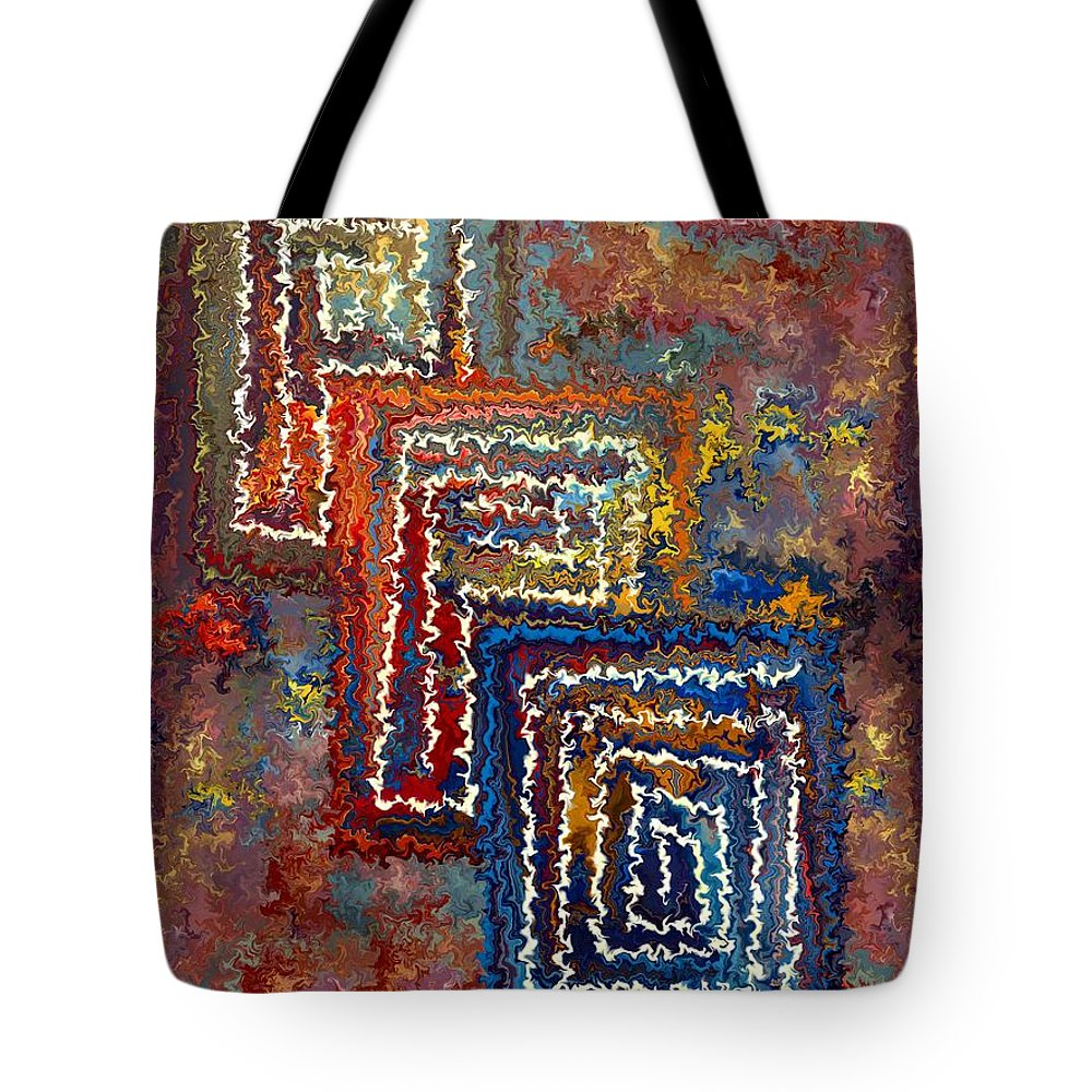 Contemporary Tote Bag featuring the painting Three Doors by Rafi Talby
