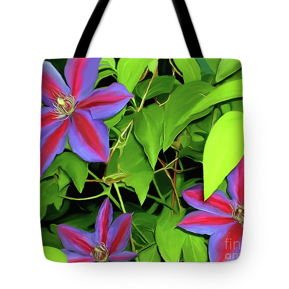 Mixed Media Art Tote Bag featuring the painting Three Jacks by Patricia Griffin Brett