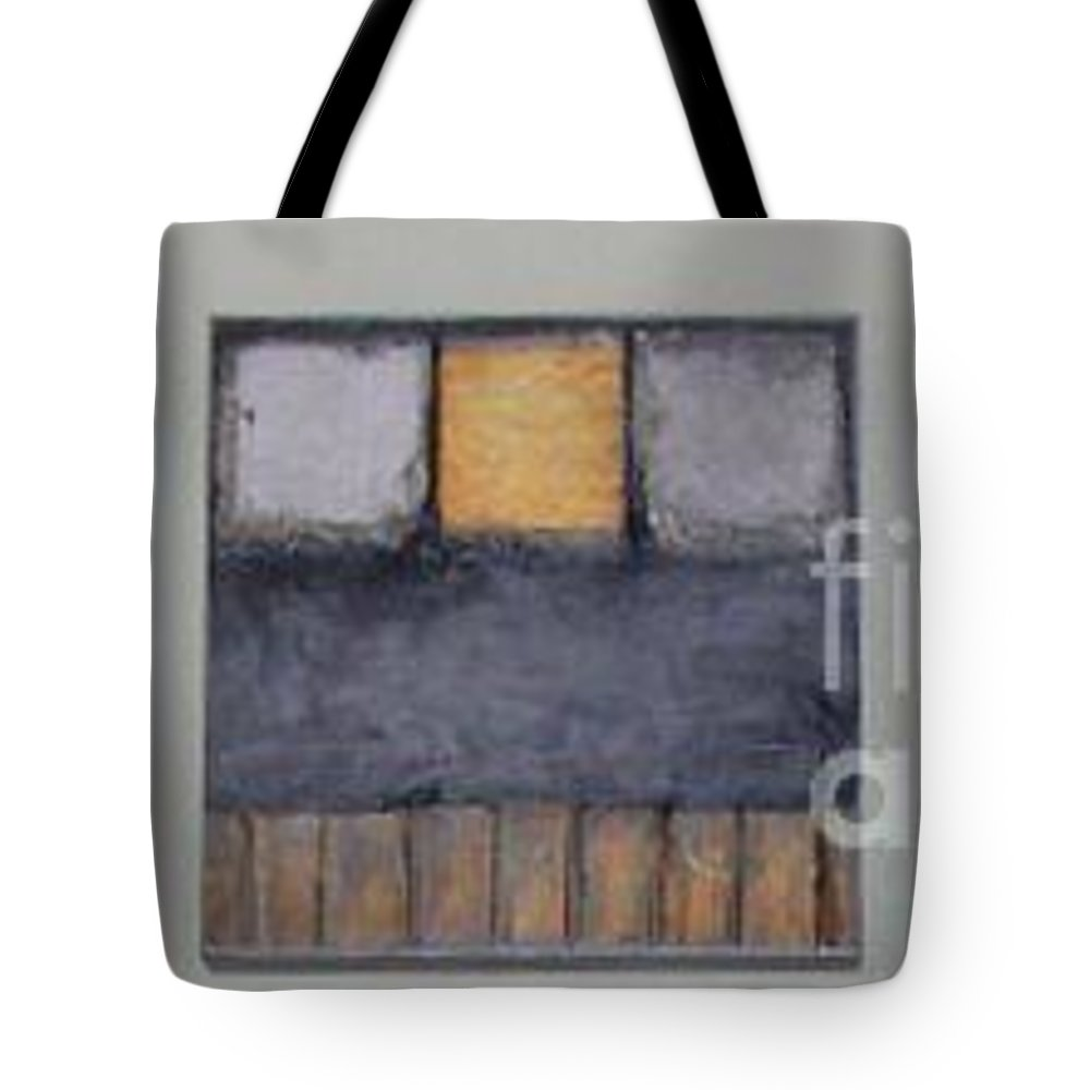 Metallic Tote Bag featuring the mixed media Three Little Bigs by Marlene Burns
