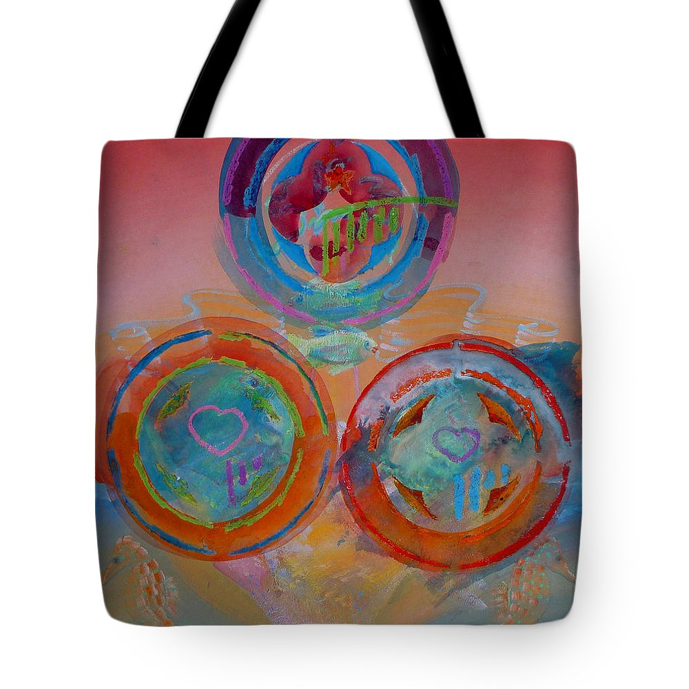 Logo Tote Bag featuring the painting Three On Marine by Charles Stuart