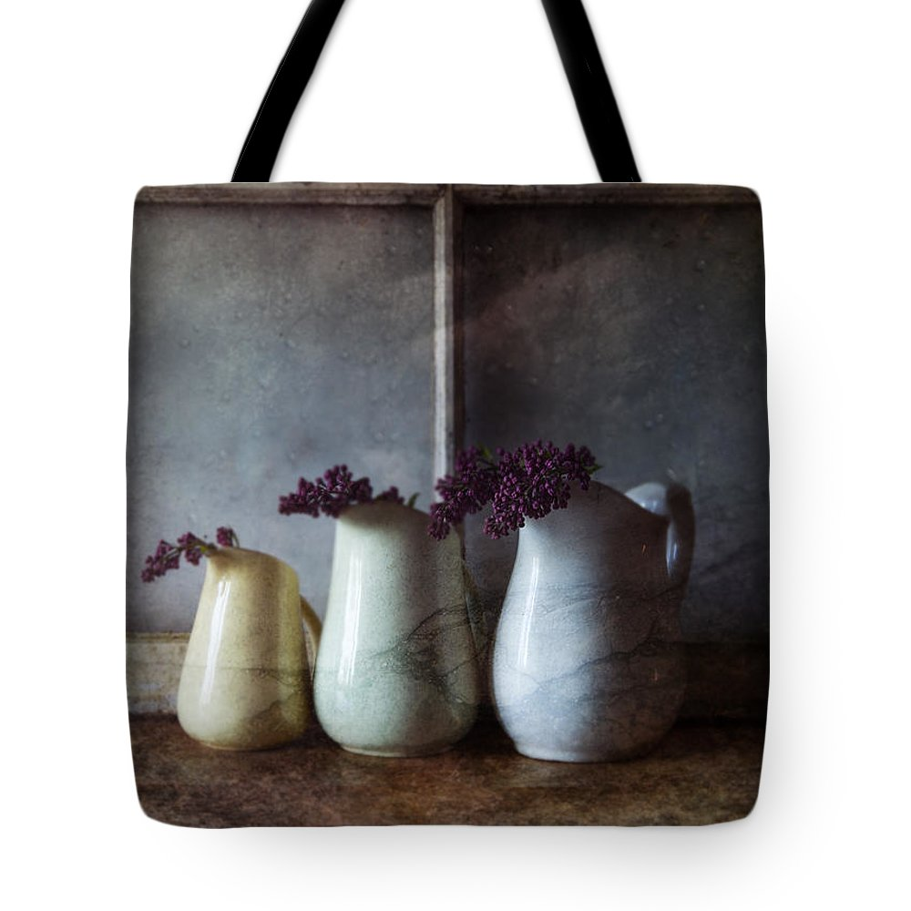 Three Pitchers Tote Bag featuring the photograph Three Pitchers by Nichon Thorstrom