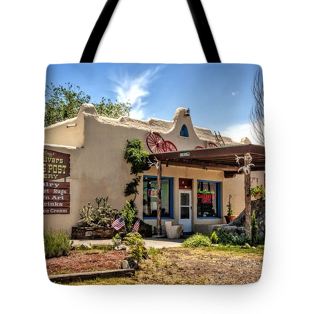 Three Rivers Tote Bag featuring the photograph Three Rivers Trading Post by Diana Powell