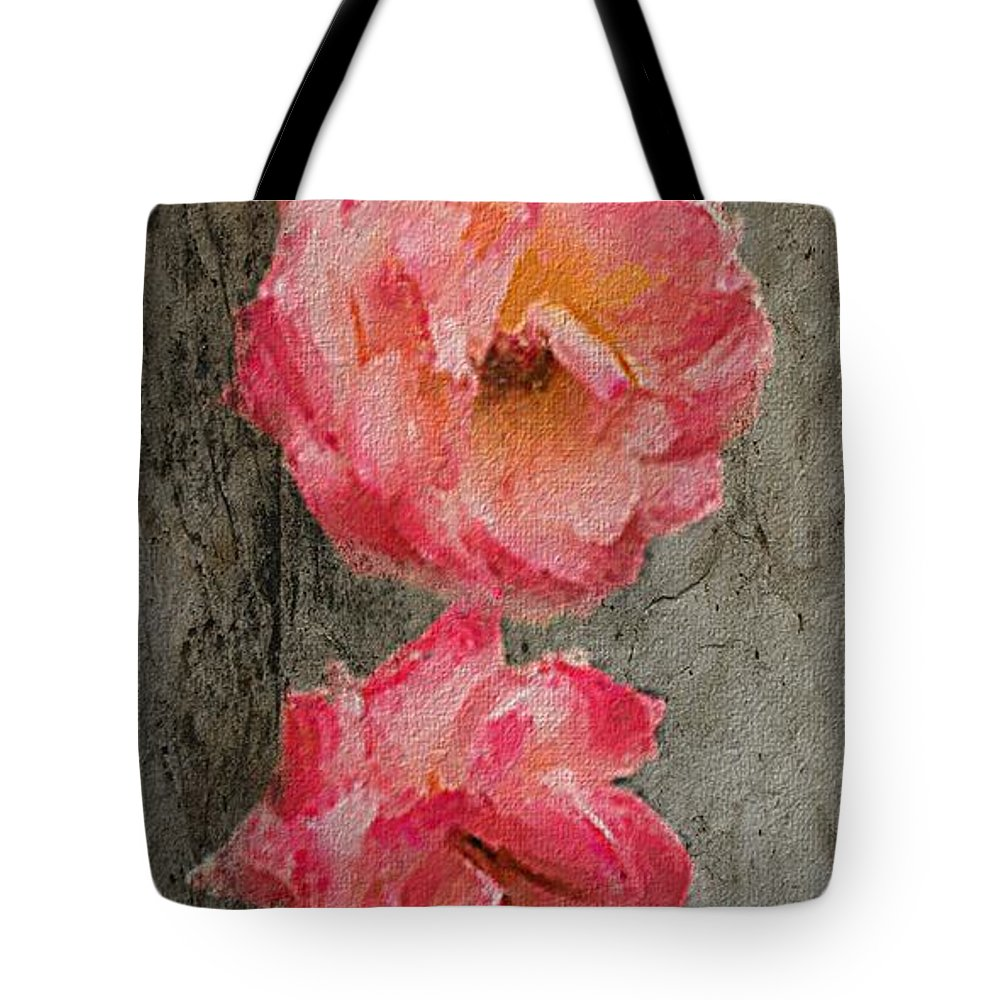 Roses Tote Bag featuring the digital art Three Roses by Dale Stillman