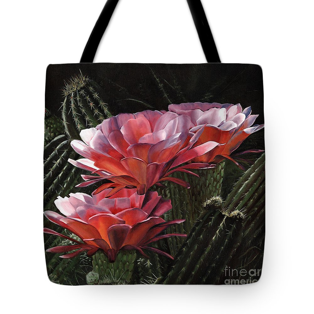 Art Tote Bag featuring the painting Three Sisters by Mary Rogers