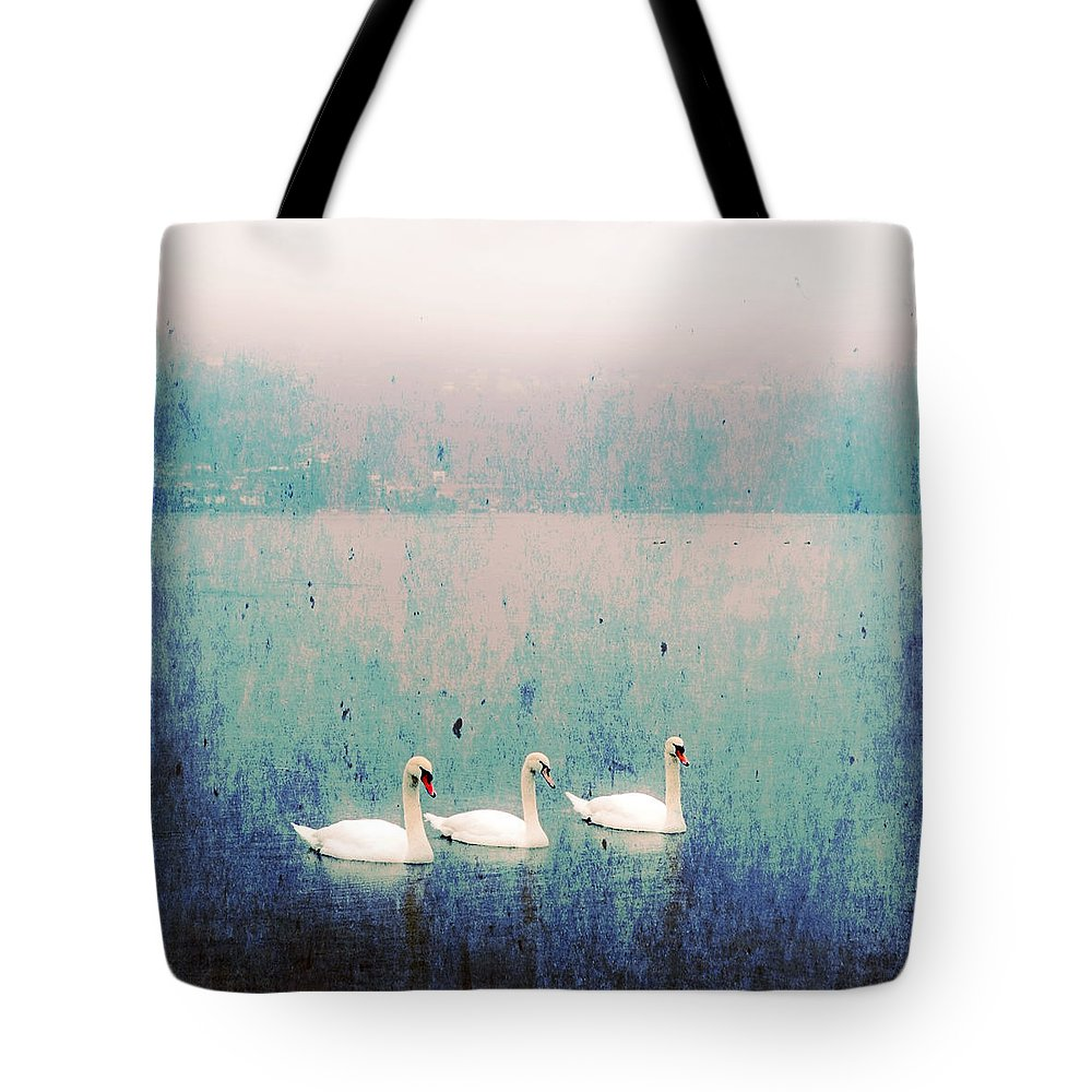 Swan Tote Bag featuring the photograph Three Swans by Joana Kruse