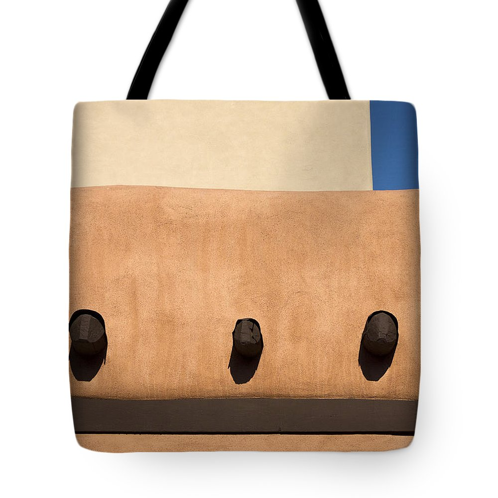 Southwest Tote Bag featuring the photograph Three Vigas by Carol Leigh