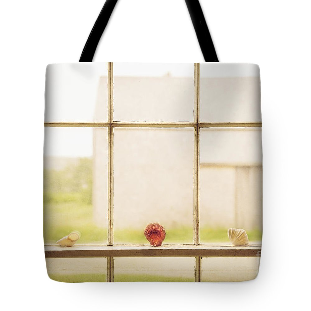 Our Town Tote Bag featuring the photograph Three Window Shells by Craig J Satterlee
