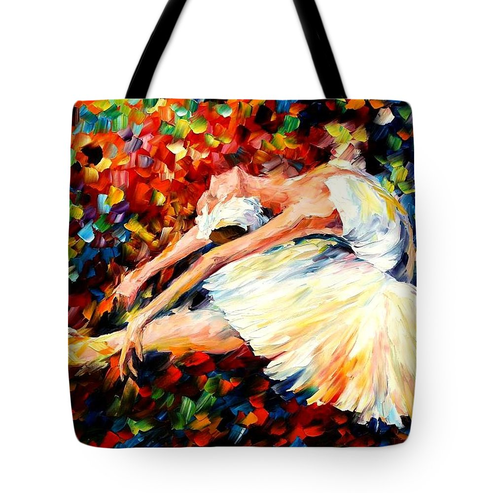 Afremov Tote Bag featuring the painting Thrill by Leonid Afremov