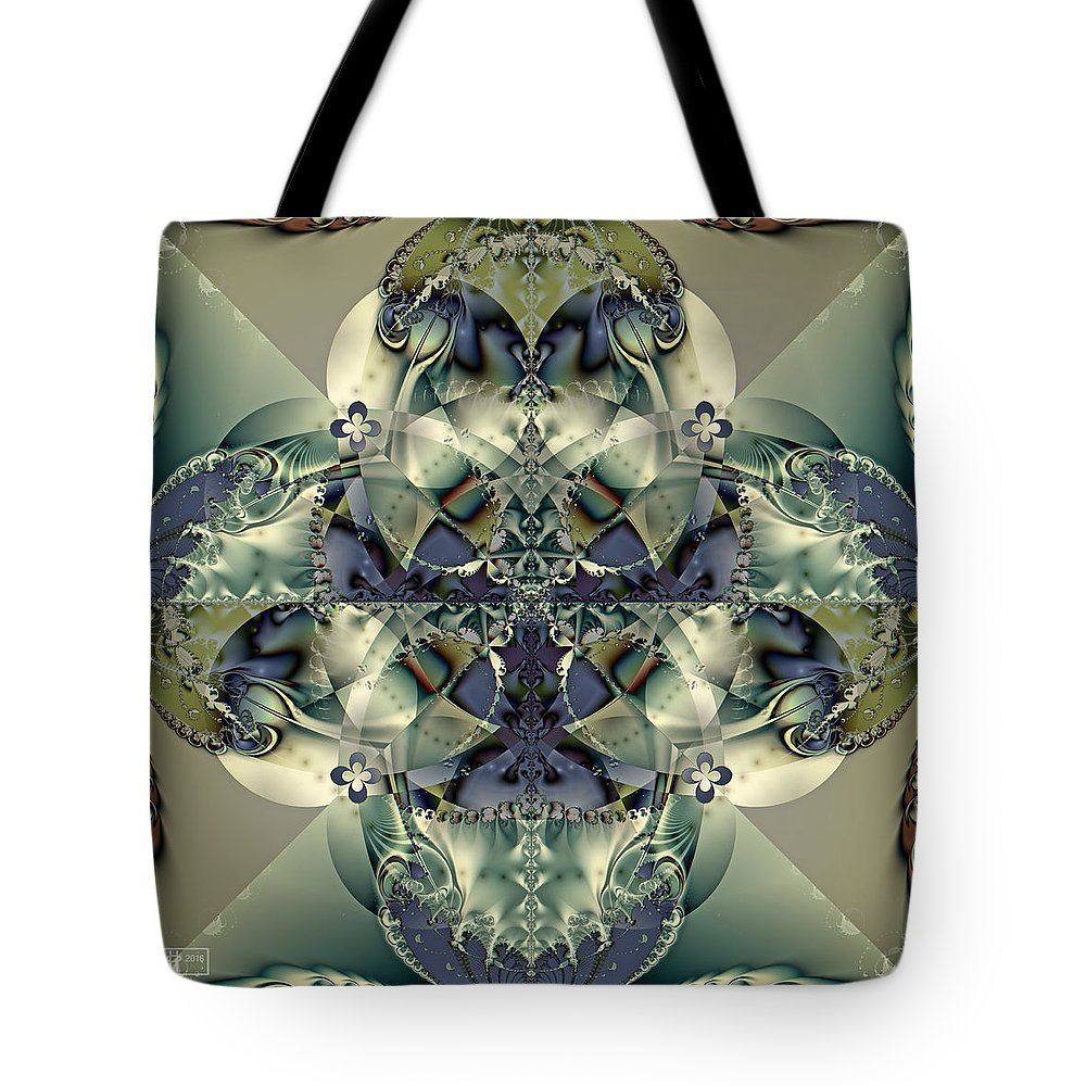 Abstract Tote Bag featuring the digital art Through A Glass Darkly by Jim Pavelle