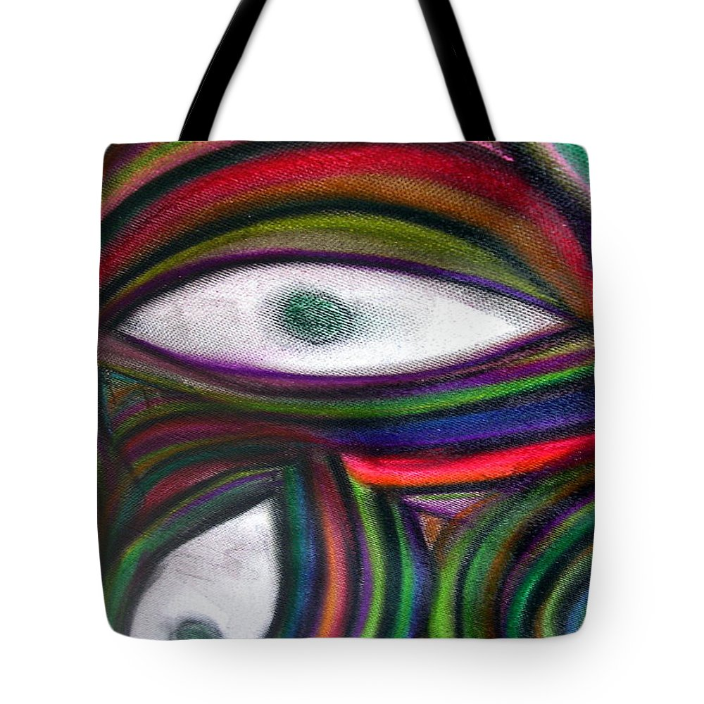 Original Tote Bag featuring the painting Through Other's Eyes by Dawn Hough Sebaugh
