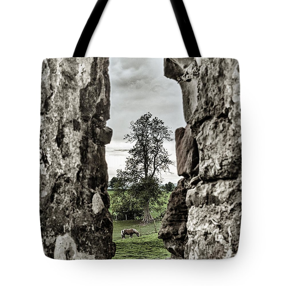 England Tote Bag featuring the photograph Through The Castle Window by Lee Houston