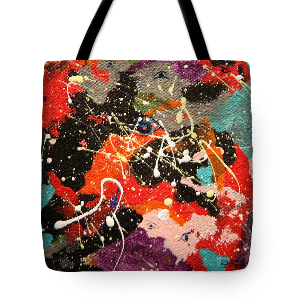 Abstract Tote Bag featuring the mixed media Through The Eyes Of The Universe by J R Seymour