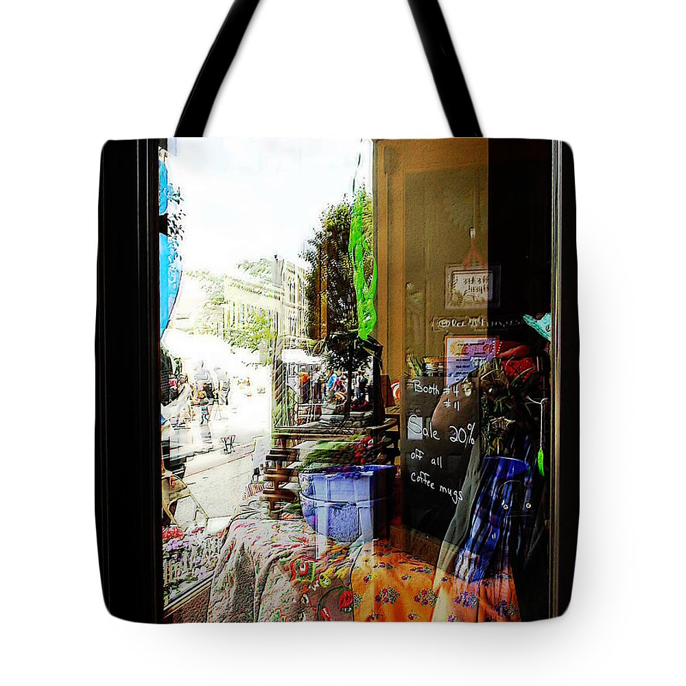 Glass Tote Bag featuring the photograph Through The Looking Glass by David Rothbart