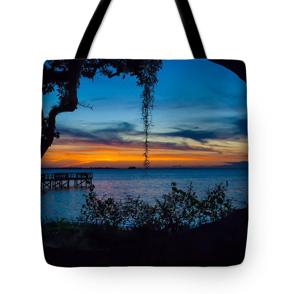 Crystal Beach Tote Bag featuring the photograph Through The Oak by Rob Craig