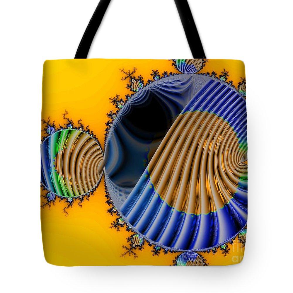 Julia Fractal Tote Bag featuring the digital art Thru a Julia Lens by Ron Bissett