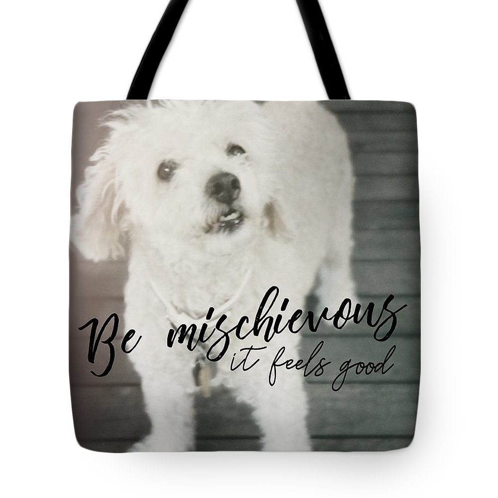 Poodle Tote Bag featuring the photograph Thumper Dog Quote by JAMART Photography
