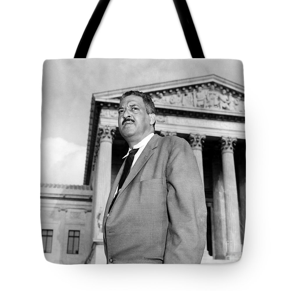 20th Century Tote Bag featuring the photograph Thurgood Marshall by Granger