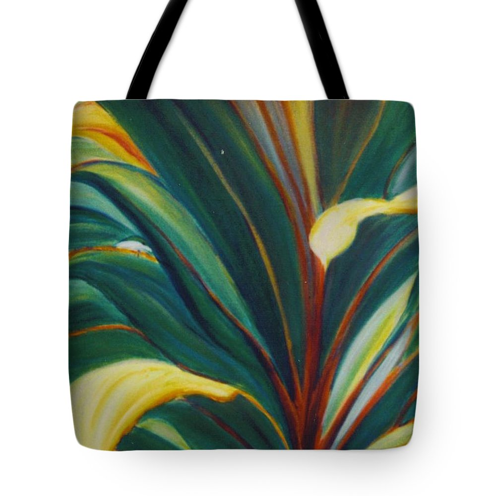 Foliage Tote Bag featuring the painting Ti Leaves Too by Dina Holland