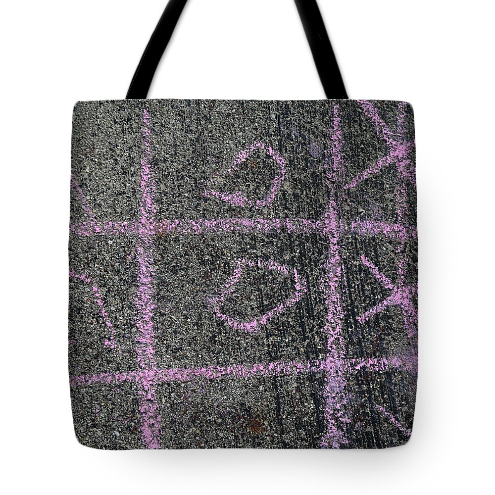 Concerete Tote Bag featuring the photograph Tic-tac-toe by Mary Bedy