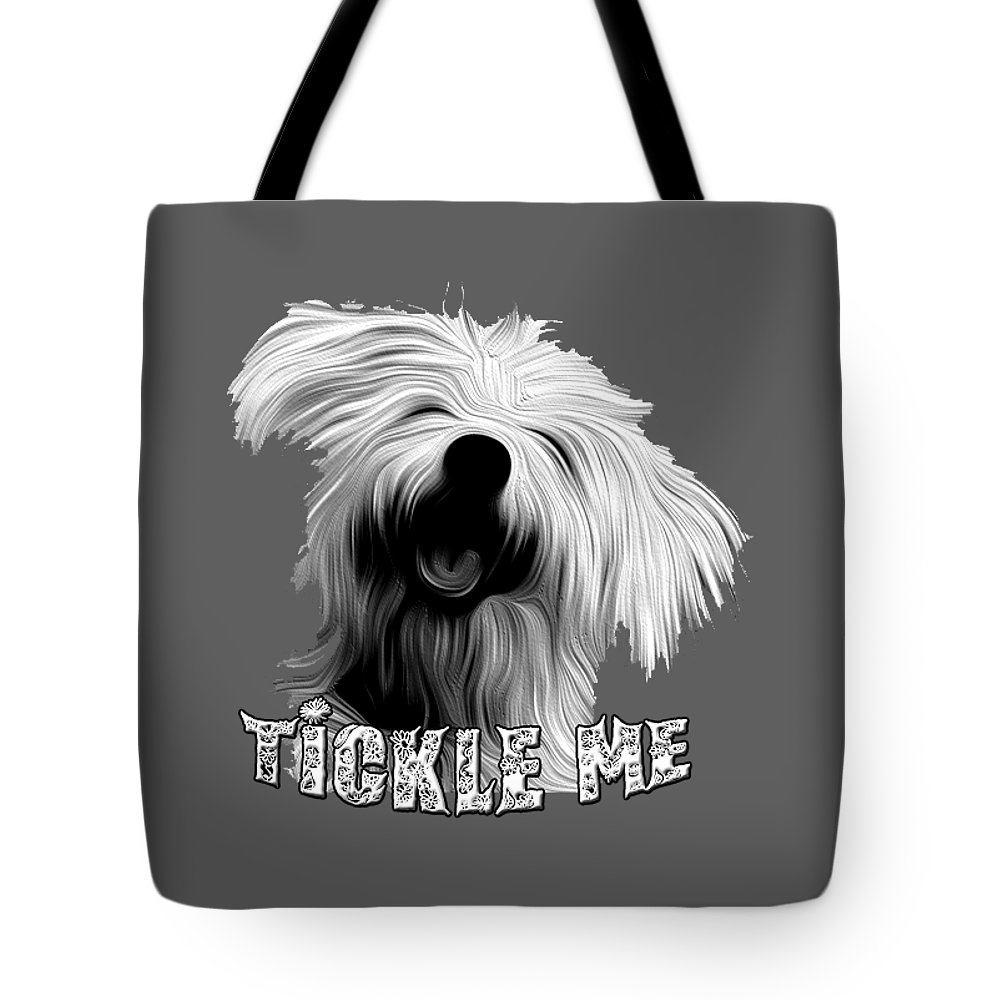 Dogs Tote Bag featuring the digital art Tickle Me Too by Peter Stevenson