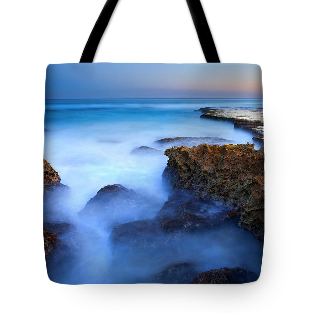 Pennington Bay Tote Bag featuring the photograph Tidal Bowl Boil by Mike Dawson