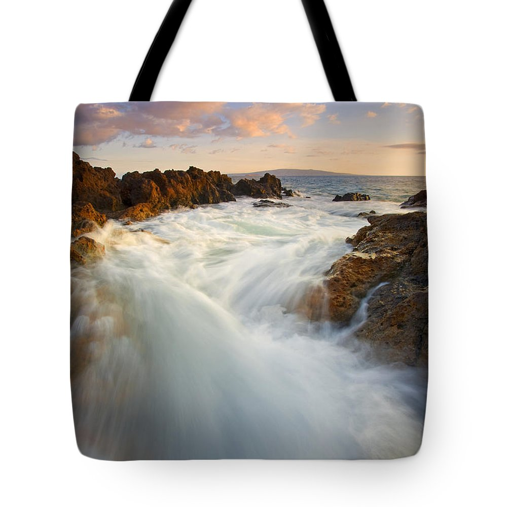 Surge Tote Bag featuring the photograph Tidal Surge by Mike Dawson