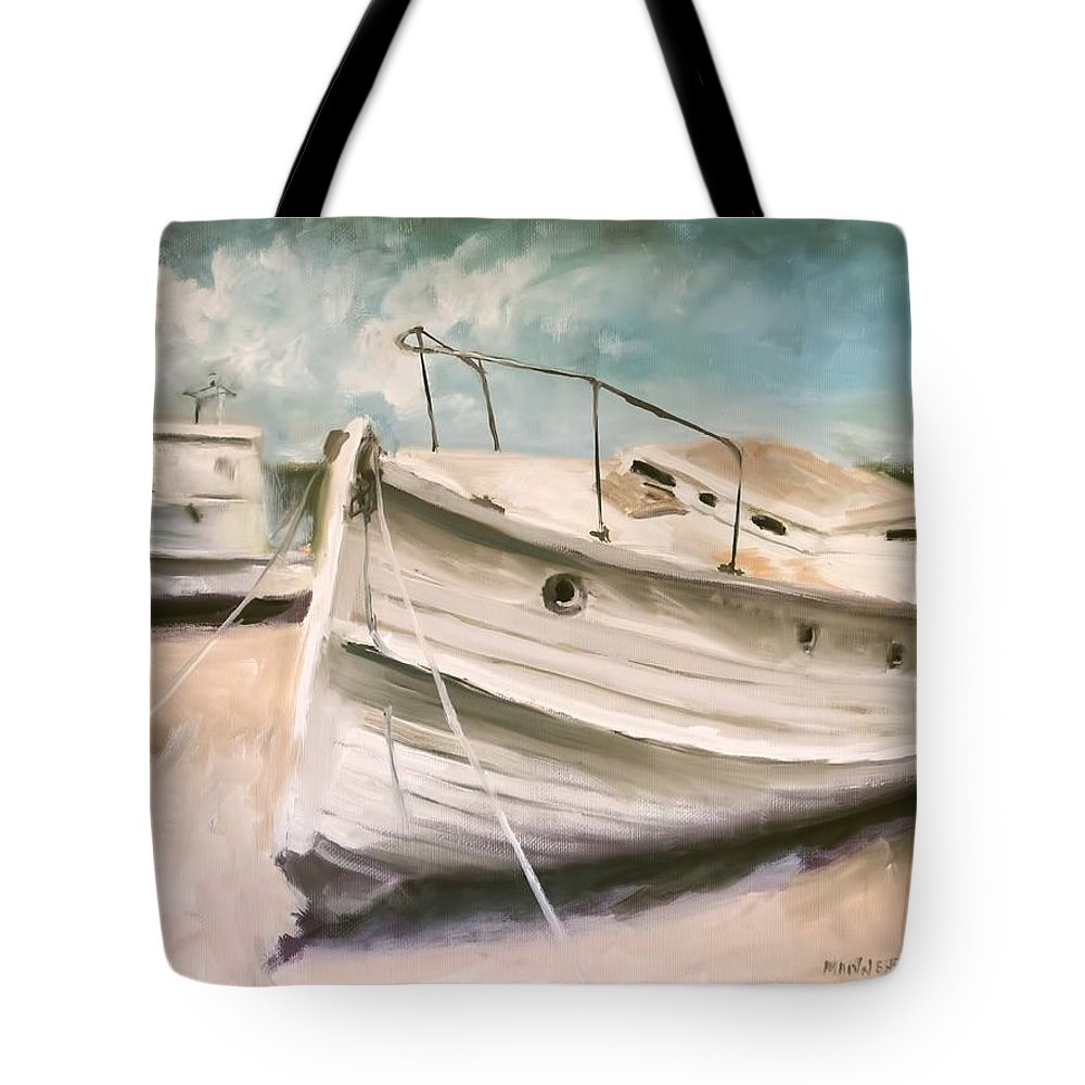 Tide Is Out Tote Bag featuring the painting Tide Is Out by Melissa Herrin
